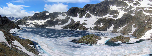 Lac du Pourtet en hiver
