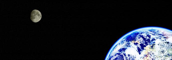 地球と月 パノラマ