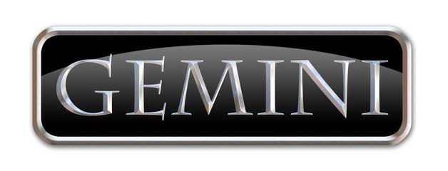 Boton con las letras del signo zodiacal Geminis