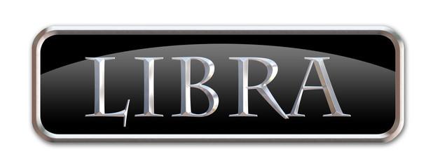 Boton con las letras del signo zodiacal Libra