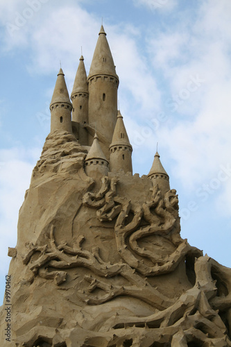 Sandsculpture of castle  in Noordwijk, Netherlands