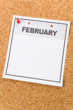 Blank Calendar, February, close up for background poster