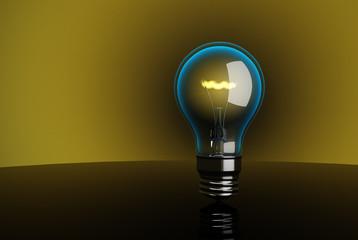 3d High-quality lightbulb. Creativity concept.