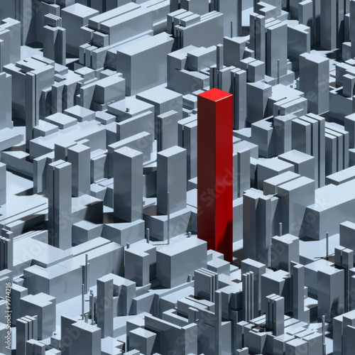 abstract urban background and individuality concept
