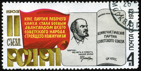 Stamps isolated on blacke background,Russia.