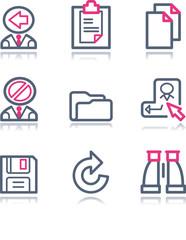 Color contour web icons, set 3