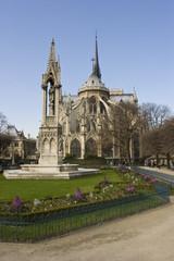 Blick auf die Pariser Kathedrale Notre Dame