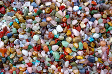 natural background shiny semi precious gem stones