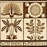 Panel design tile from the Arts & Crafts period c1890. poster