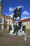 Statue of Frederick William and Charlottenburg Palace, Berlin poster