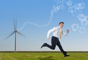 éolienne énergie renouvelable avenir vent propre turbine maché b