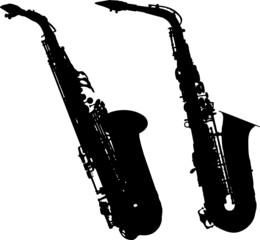 silhouettes saxophone