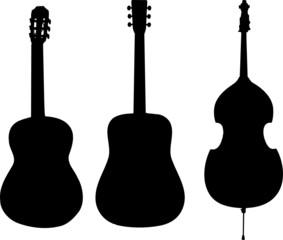 silhouettes instruments de musique