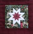 quilt star maroon