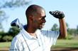 Detaily fotografie africké golfista