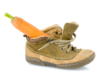 Shoe with carrot for the horse from Sinterklaas