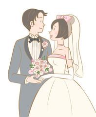 wedding couple-rose