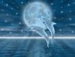 Delfini nella luna
