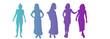silhouettes de femmes