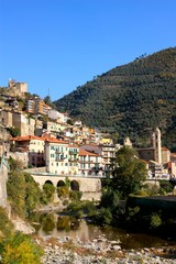 The village of Badalucco in LIguria, Italy