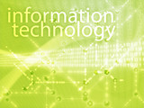 Information technology illustration, Digital data transfer poster
