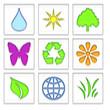 Lot d'icones environnement