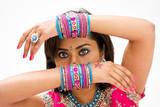 Fototapety Beautiful face of a Bengali bride