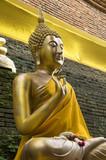Buddha statue at Wat Lok Molee in Chiang Mai,Thailand poster