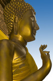 Buddha statue at Wat Lok Molee Temple in Chiang Mai poster