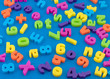 .Childrens,plastic magnetic alphabet letters
