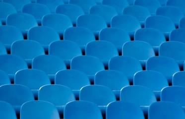 Blue sits on the stadium.