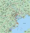 Tokyo, Japan Metropolitan Aera Map