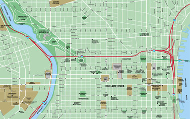 Philadelphia Downtown Map