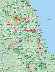 Chicago Metropolitan Area Map