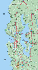 Seattle Metropolitan Area Map