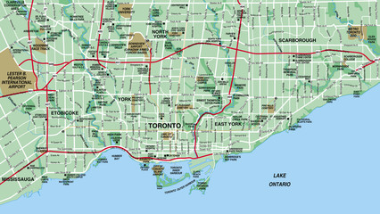 Toronto, Canada City Map
