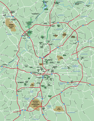 Atlanta , GA Metropolitan Area Map