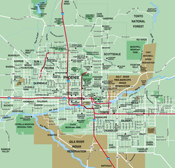 Phoenix, AZ Metro Area Map