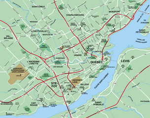 Quebec Metropolitcan Area Map