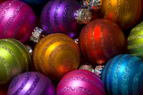 Christmas decoration baubles or ball with glitter poster