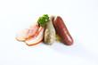 kasseler,blut-.leberwurst,speck und sauerkraut