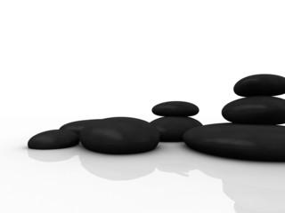 schwarze steine