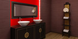 3d rendering of the asian bathroom