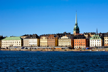 Classical view of winter Stockholm City