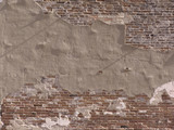decaying brick wall poster