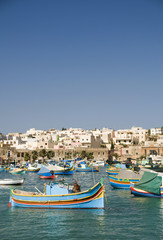 marsaxlokk malta fishing village luzzu classic fishing boats