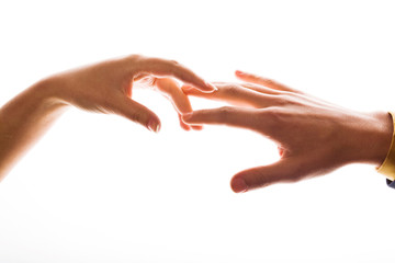 An image of hands. Man and woman.