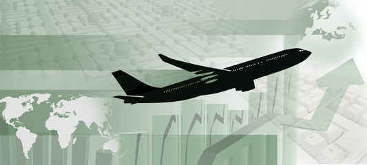 Flugzeug mit Statisik