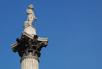nelson's column memorial statue in london