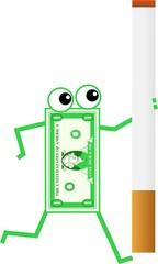 cigarette dollar